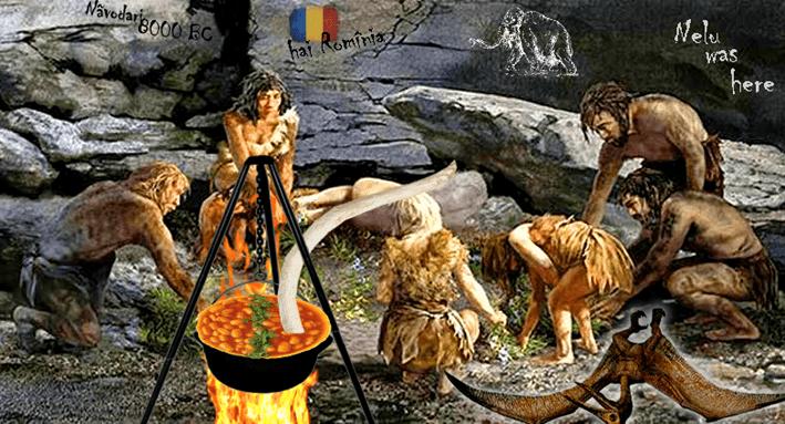 romani preistorici iahnie cu ciolan mamut